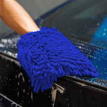 Load image into Gallery viewer, 2 Pack Microfiber Car Wash Glove Knobby - Jumbo Car Washing Mitt Gloves