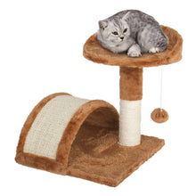 Load image into Gallery viewer, Cat Scratching Pole & Play Center - Kitty Perch & Tunnel - Pet Furniture
