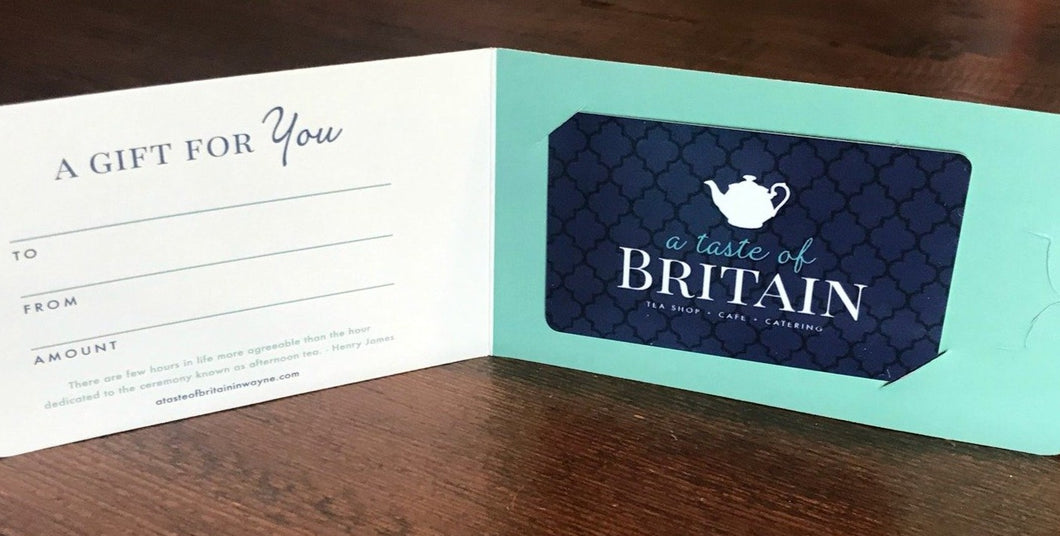 A Taste of Britain Gift Card - Any Denomination