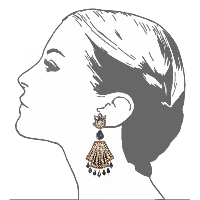 Weimar Large Drop Earrings - Suzanna Dai