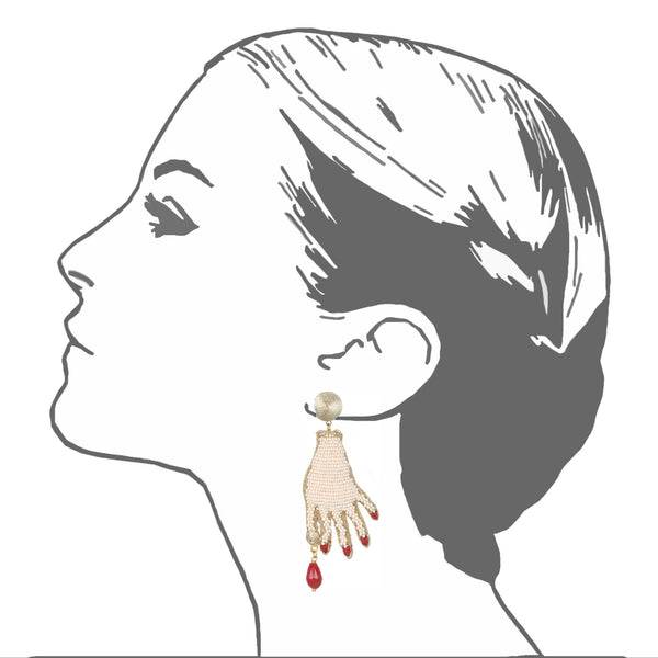 Mano Poderosa Drop Earrings - Suzanna Dai