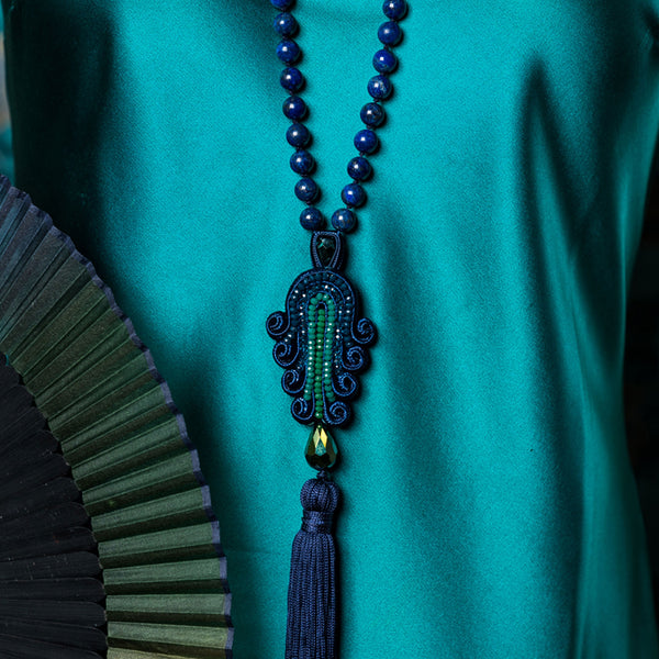 Tianzifang Long Tassel Pendant Necklace - Suzanna Dai