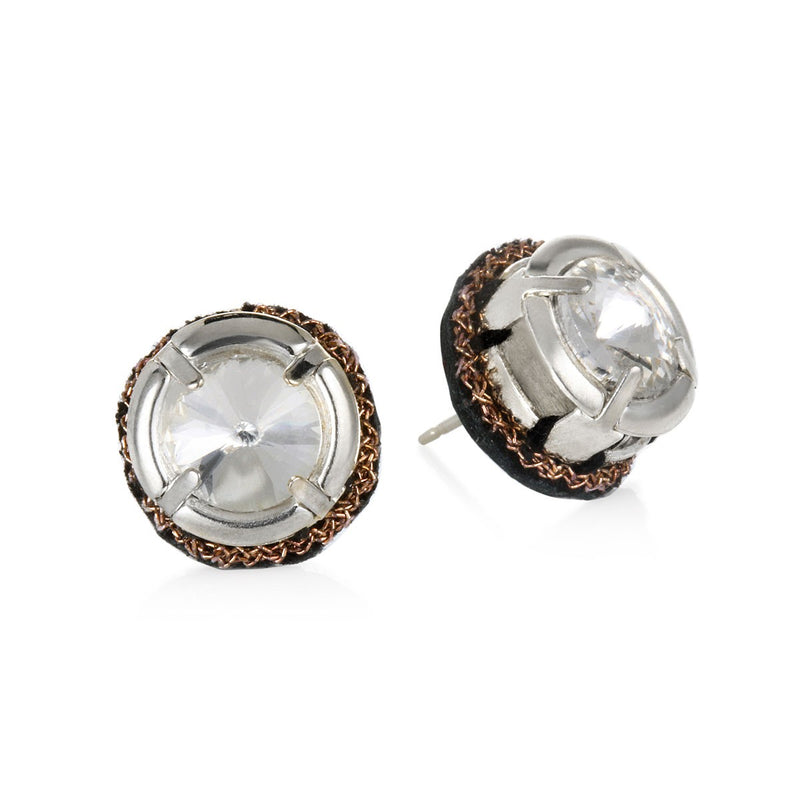 Torreon Crystal Stud Earrings - Suzanna Dai