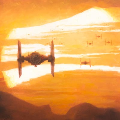 TIE Fighter Sunset by Christopher Clark | Star Wars