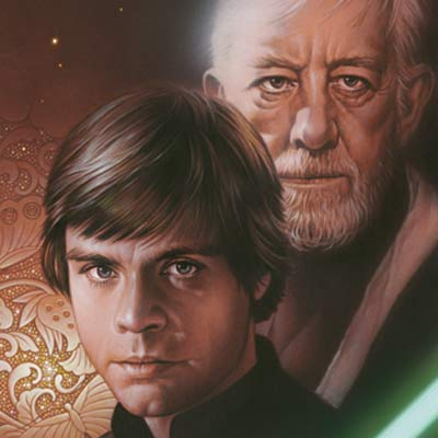 Luke and Obi-Wan by Tsuneo Sanda | Star Wars