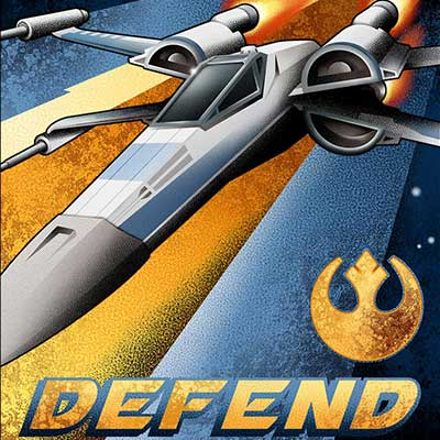 Fly and Defend by Mike Kungl | Star Wars