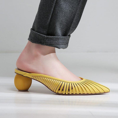 Half Pack Slipper Pointed Low Low Cut With Sandals And Slippers