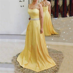 Sexy Sling Decoration Hot Drill Evening Dresses