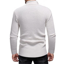 Load image into Gallery viewer, Mens  Fashion High Collar Plain Knit Sweater
