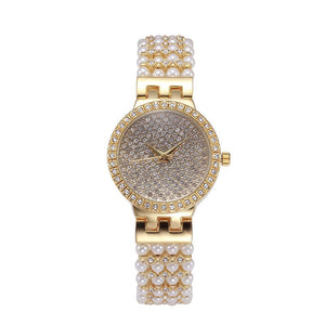Fashion Woman's Watch Pearl Shell Dial Quartz Watches
