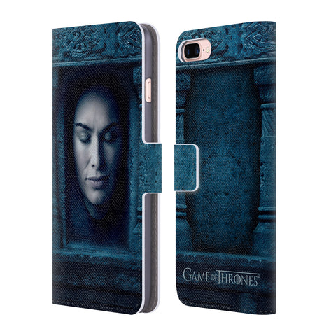 Official HBO Game of Thrones Faces Leather Book Wallet Case Cover For Apple iPhone 7 Plus / 8 Plus