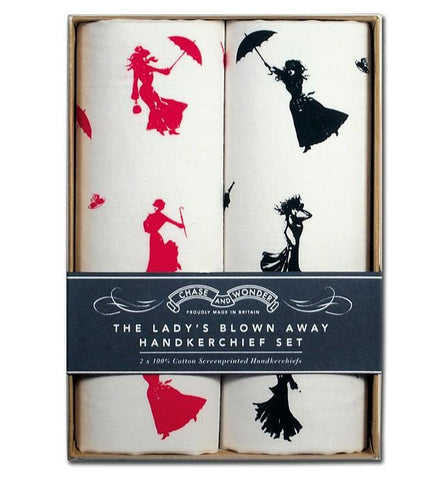 The Lady's Blown Away Handkerchief Set