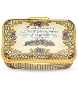 Halcyon Days Royal Baby Limited Edition Enamel Box Collectible