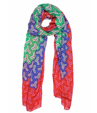 Jonathan Saunders Modal Cashmere Blend Y Print Scarf
