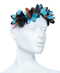 Noel Stewart Leather Flower Wreth Headband