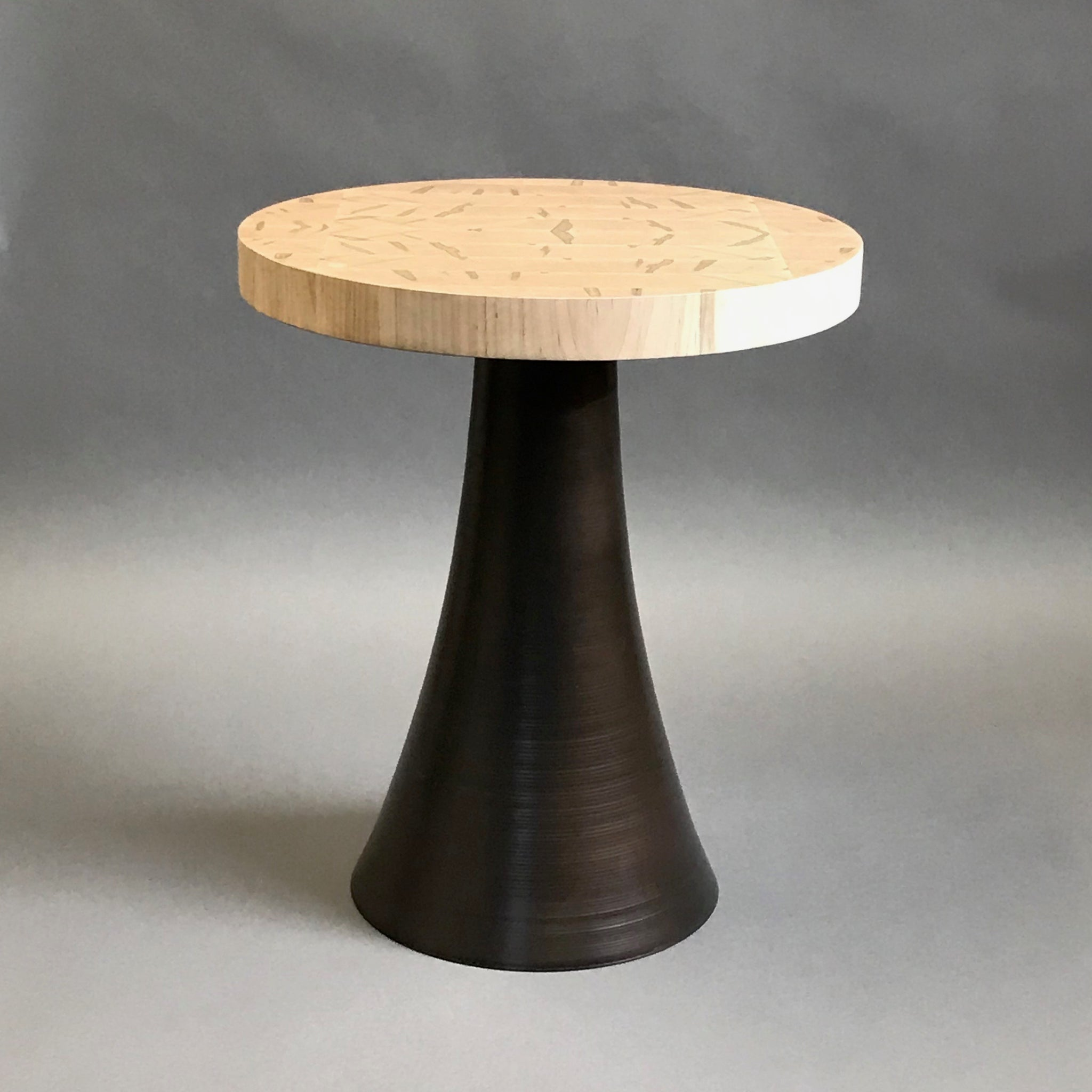 Flare Side Table w/ Maple Top