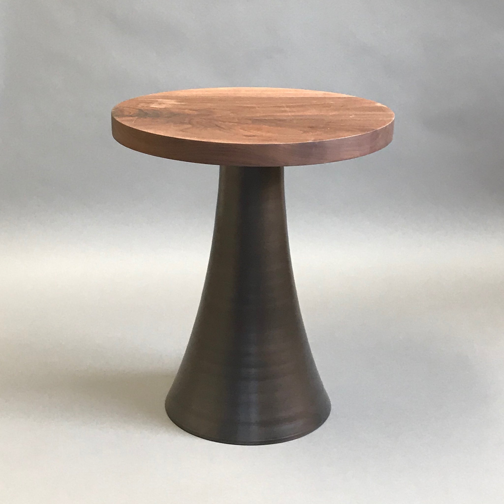 Flare Side Table W/ Walnut Top