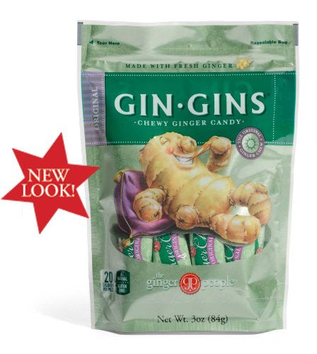 90502 Gin Gins Original Chewy Ginger Candy 3 oz