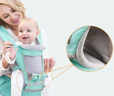 Hipseat Sling Front Baby Carrier zoom in feature
