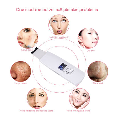 Ultrasonic Face Skin Scrubber Machine For Blackhead Remover