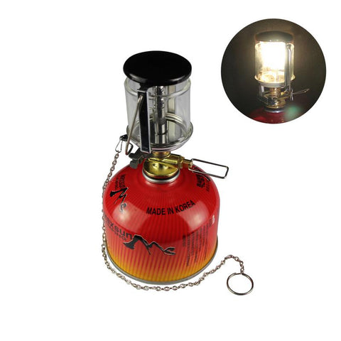 Outdoor Camping Patio Tent Propane Heater light on