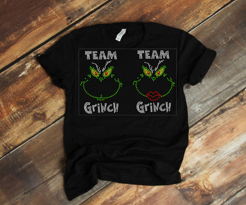 Team Grinch ~ Rhinestones