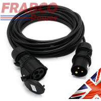 HDIUK Broadway 2 Series 240V 16A Extension Lead Black