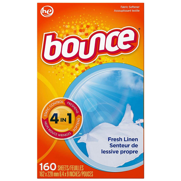 Bounce Fresh Linen Fabric Softener Sheets 160 Count