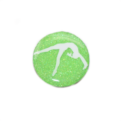 Glittery Gymnastics PopSocket - Bright Green