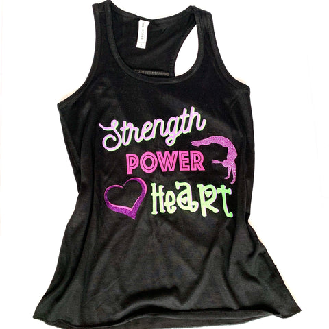Strength Power Heart Gymnastics Tank