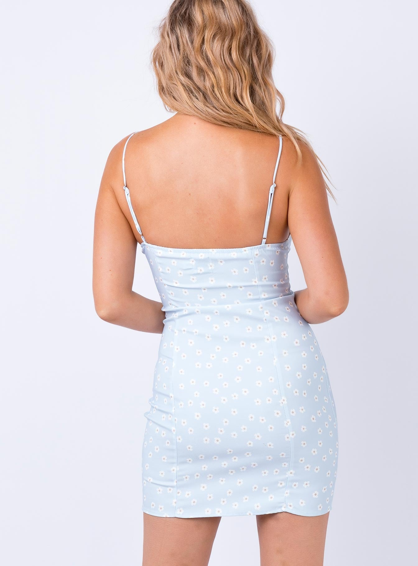 Fleurette Mini Dress Pale Blue