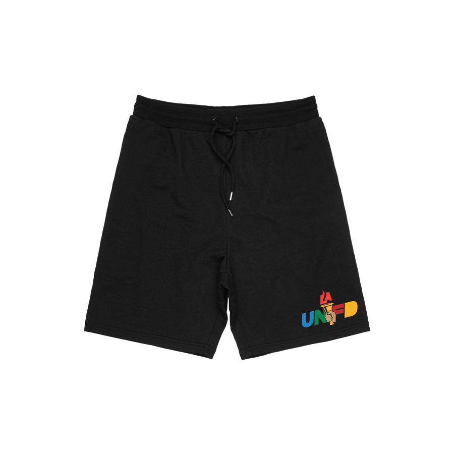 LAUNFD Pass the Torch Athletic Shorts (Multicolor Logo)
