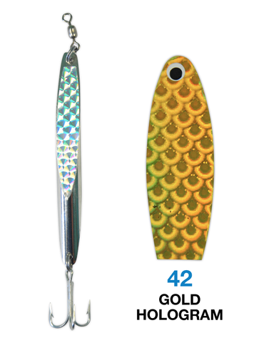 Deadly Dick Deadly Dick Long Casting / Jigging Lure - 42 - Gold Hologram