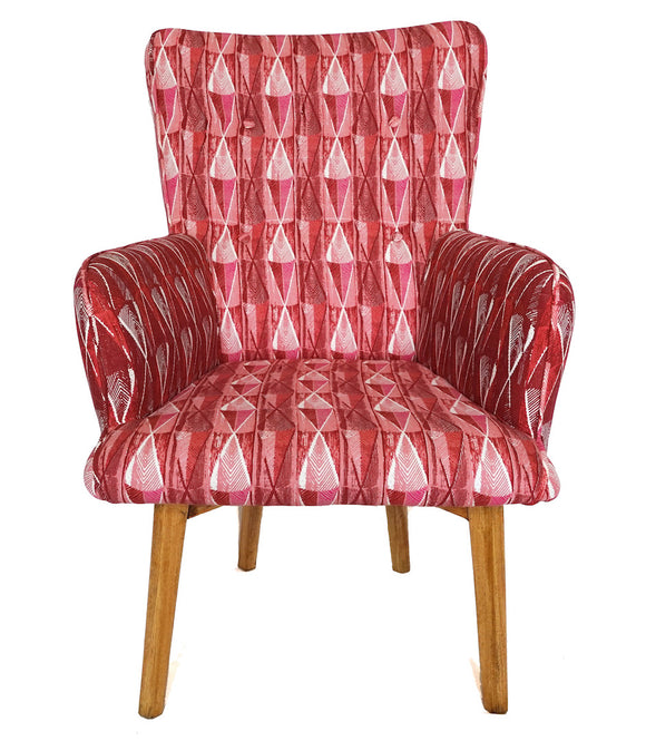 Chaise fauteuil pagne Woodin rose