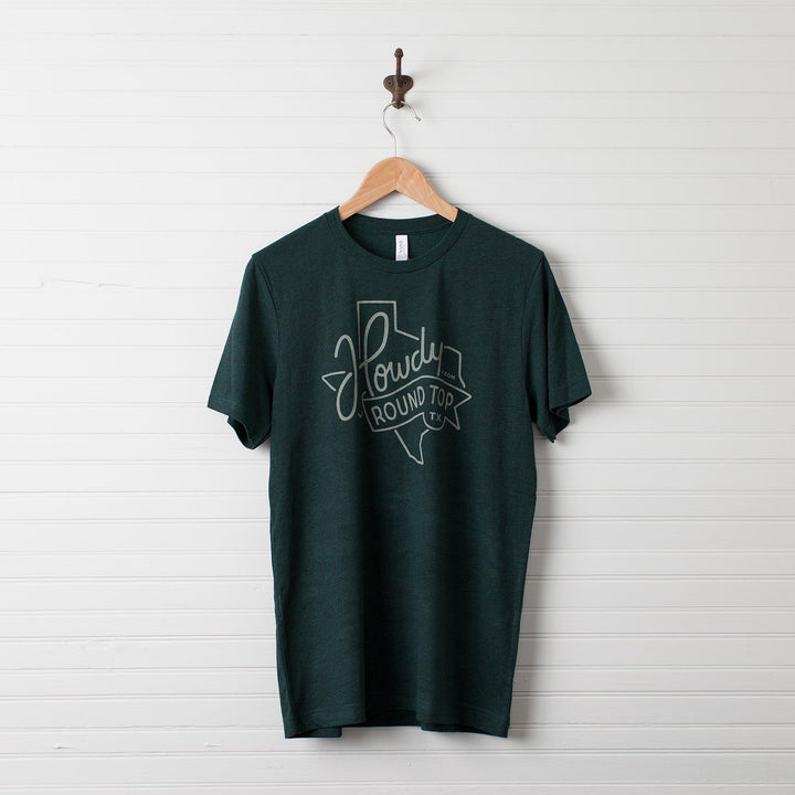 "Green ""Texas"" Howdy from Round Top T-Shirt"