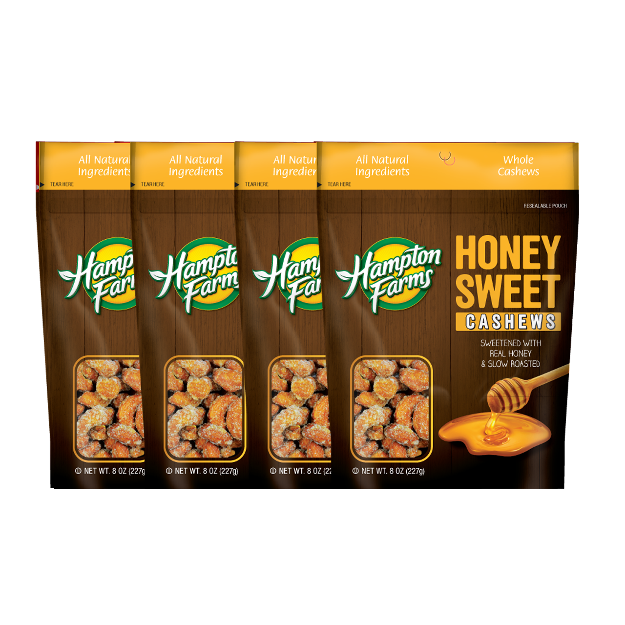 Honey Sweet Cashews (8 oz.) - 4 pack