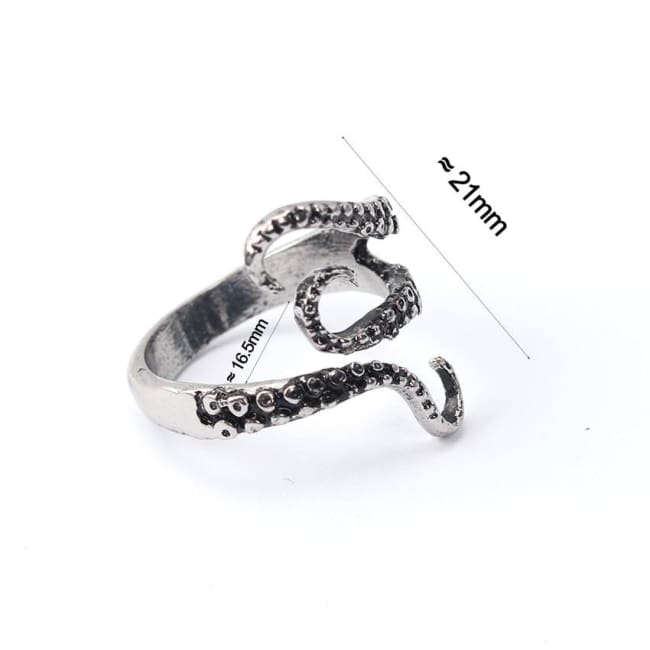 OCTOPUS TENTACLE TITANIUM STEEL RING-Rebellious Creatures