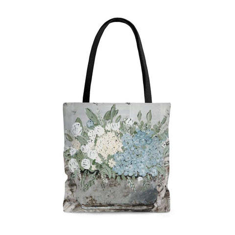 Tote Bag. Country Floral Design. - Gin's Den