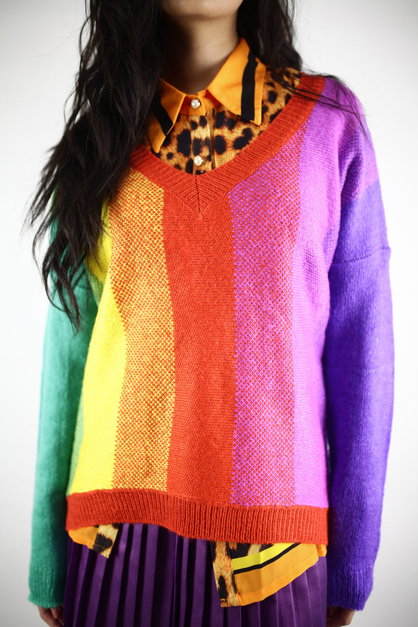 Preciously Prismatic Sweater