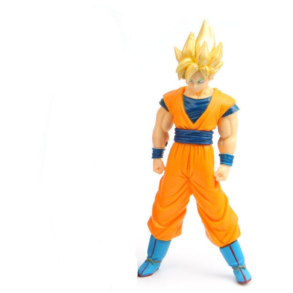 Goku SSJ + SSJ Blue - Dragon Ball Action Figure - Anime Printed