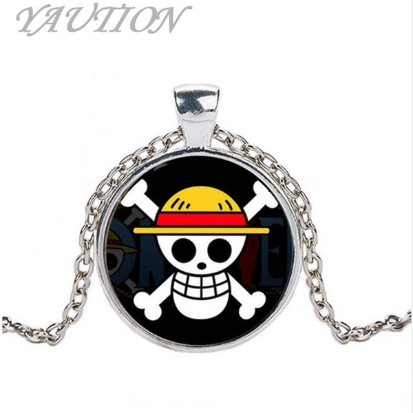 Metal Circular Pendant - One Piece Necklace - Anime Printed