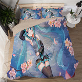 Floral Queen - Hatsune Miku Bed Sheet - Anime Printed