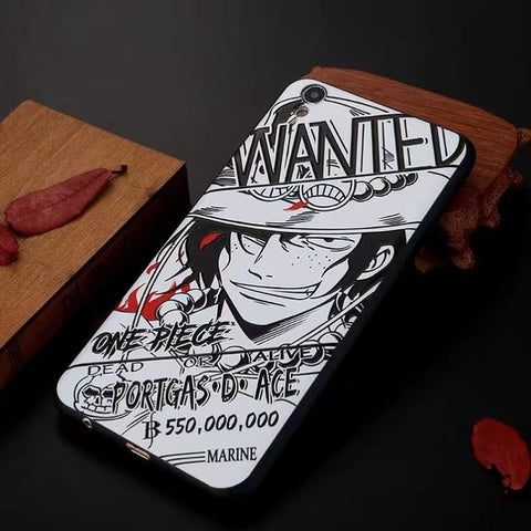 Ace Wanted Manga Art - One Piece iPhone Case - Anime Printed