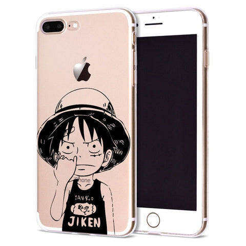 Chibi Luffy Clear Back - One Piece iPhone Case - Anime Printed