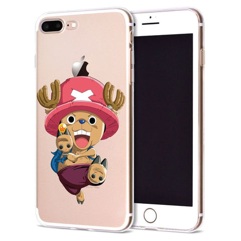Chopper Clear Back - One Piece iPhone Case - Anime Printed