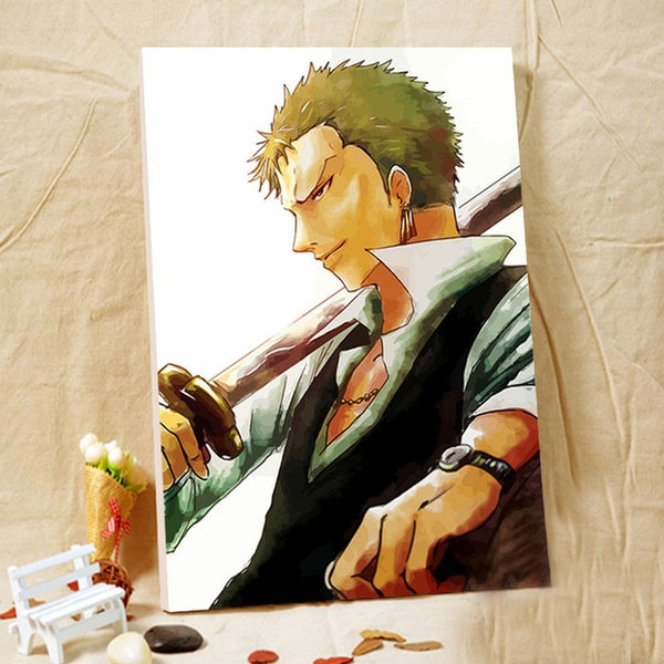 Zoro Formal - One Piece Canvas Printed Wall Poster - Anime Printed