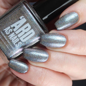 ard as nails son of an itch grey holographic nail polish