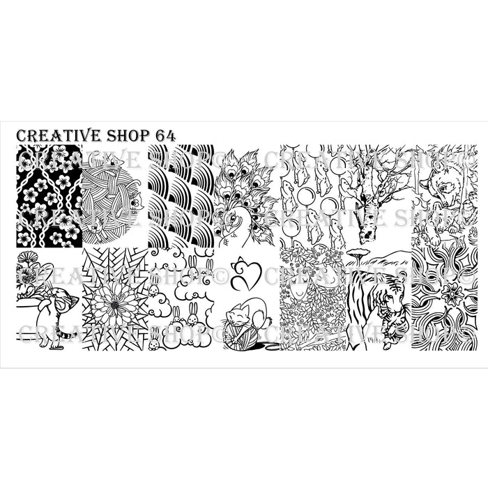 Creative Shop- Stamping Plate- 064