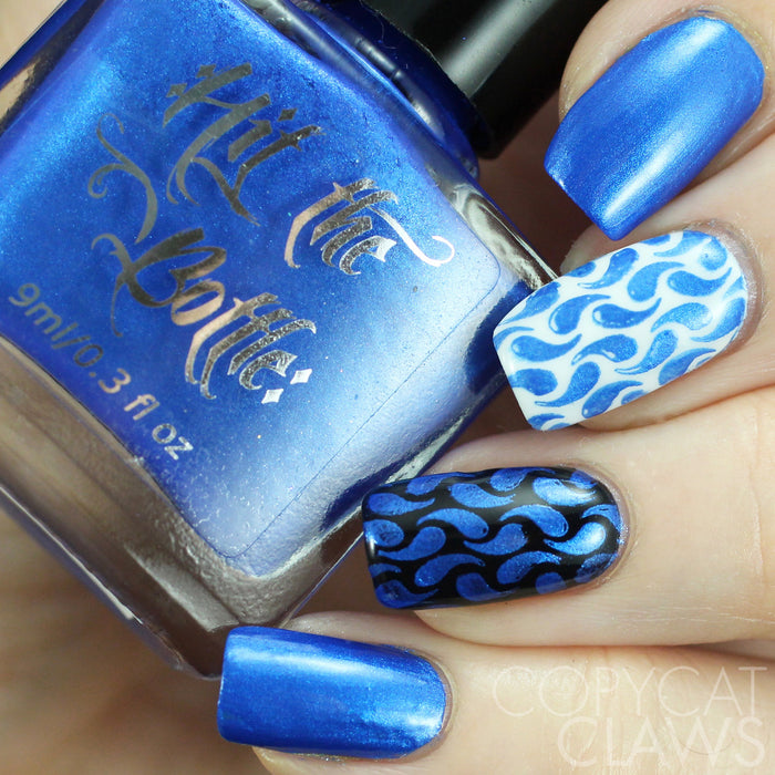 "Hit the Bottle ""A Bolt from the Blue"" Stamping Polish"