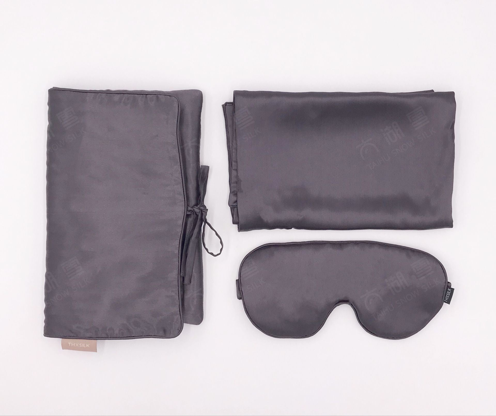 Gift Set 100% Real Silk Filled Sleeping Mask and Pillowcase Sets Luxury Souvenir OEKO-Tex100/ TAIHU SNOW